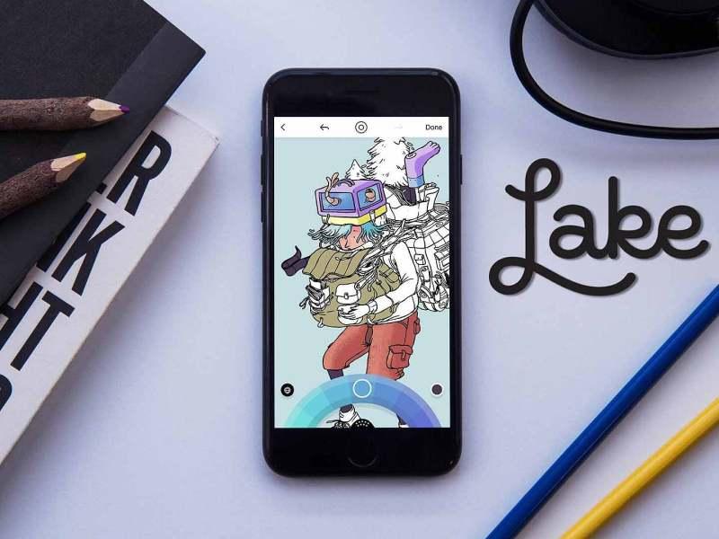 Lake coloring es la mejor app para relajarse pintando en iOS