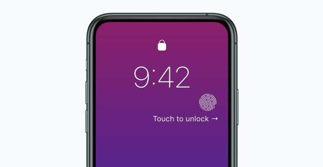 iPhone 12 con Touch ID y sin Face ID