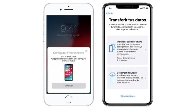 Pasar datos a nuevo iPhone