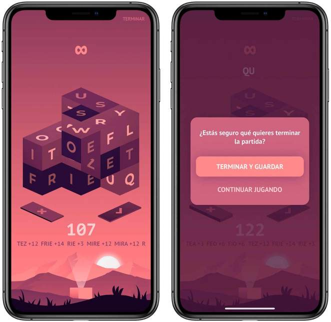 Jugando a Cubigram para iOS