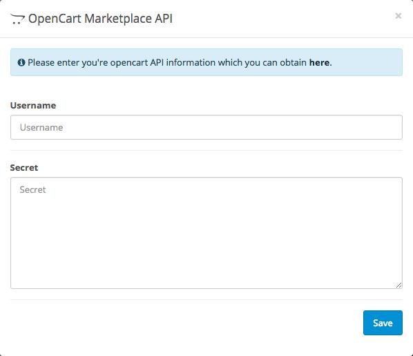 OpenCart Marketplace API