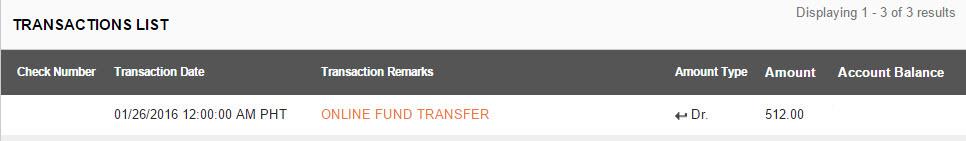 Eon Online Fund Transfer