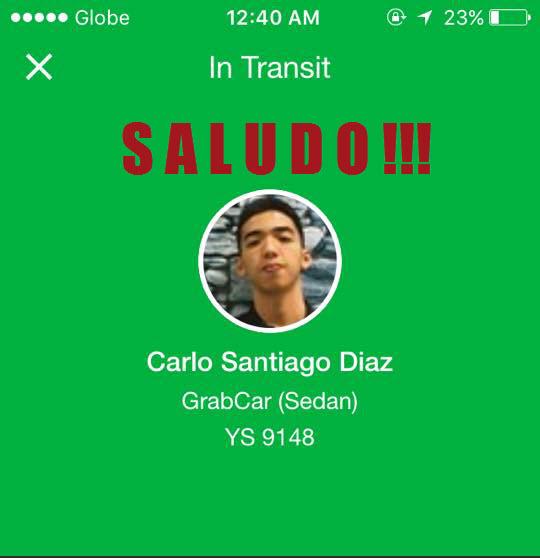 Grab Car Driver Carlo Diaz Story
