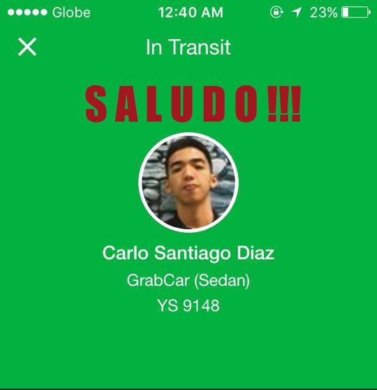Grab Driver and His Friends Kindness and Generosity – From thoughts of horror to one of respect and admiration – Carlo Santiago Diaz