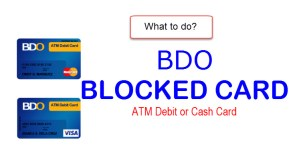 BDO Blocked card guide to restore access