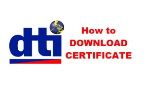 DTI How to Download Business Certificate