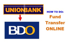 Fund Transfer online Unionbank to BDO
