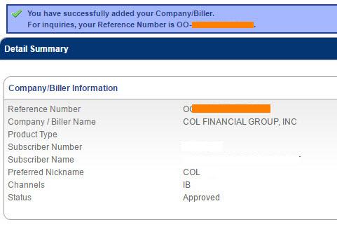 COL enrollment BDO online banking