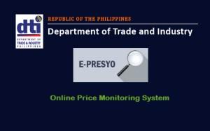 DTI e-Presyo Add for Price Monitoring
