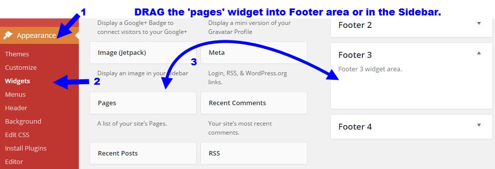 set-up widget on wordpress blog