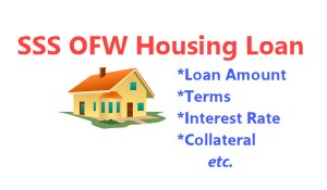 SSS Housing Loan OFW Interest rate Collateral Terms