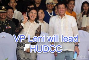 President Duterte Gave HUDCC Position to VP Leni Robredo