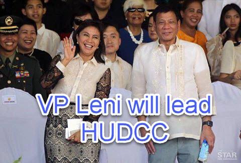 President Duterte Gave HUDCC Position to VP Leni Robredo