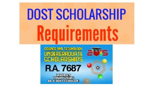 dost scholarship requirements