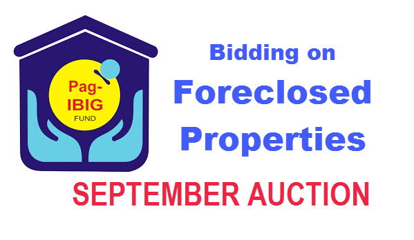 Pag-IBIG Foreclosed Properties 2016 – SEPTEMBER AUCTION