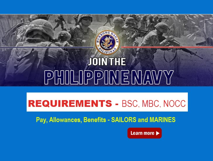 philippine navy requirements to apply