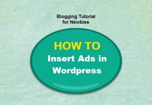 how to insert ads in wordpress