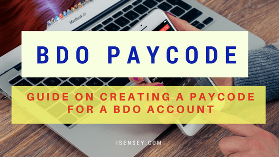 create and use bdo paycode