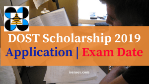 DOST Scholarship 2019 Application _ Exam Date