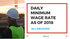 daily minimum wage rate 2018