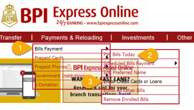 enroll credit card get BECC in BPI