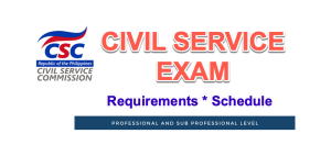 schedule requirements civil service exam