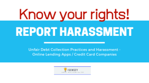 report harassment online lenders credit card companies