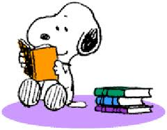 Snoopy Reading