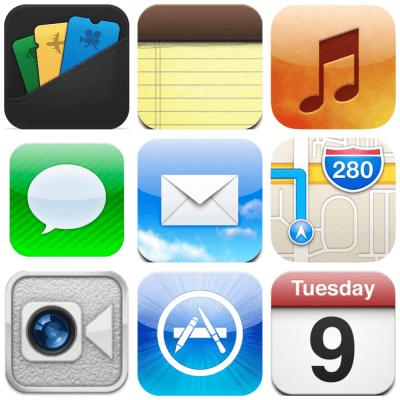 ios 6 app icons