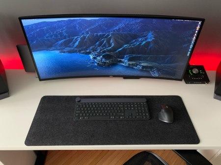 Grey Desk Mat