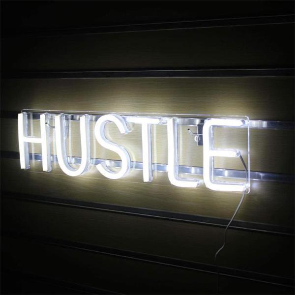hustle LED neon sign