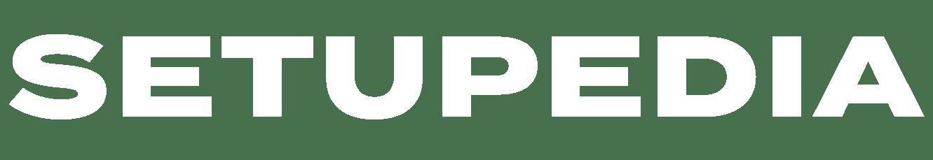 setupedia logo banner white