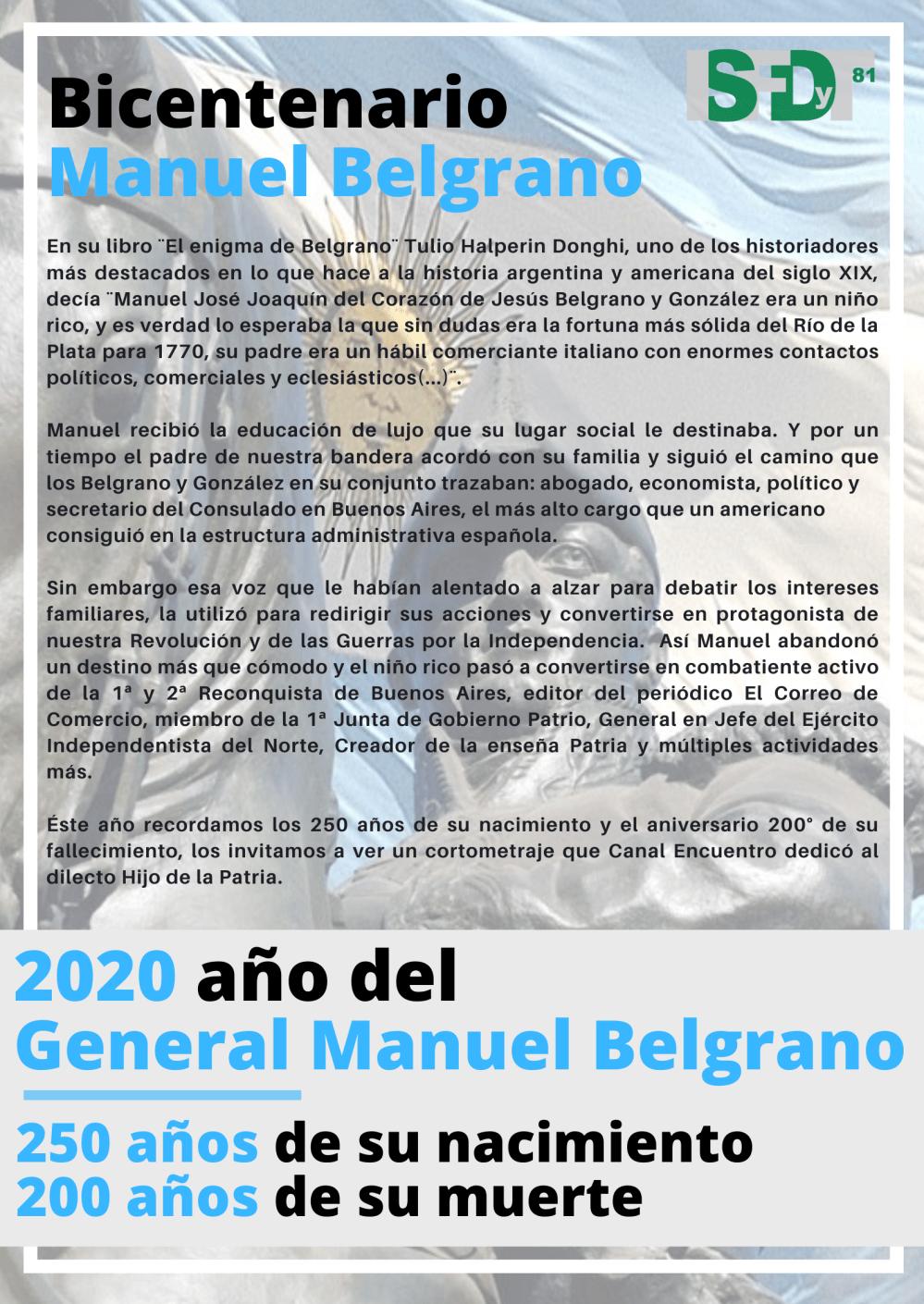 Bicentenario Manuel Belgrano