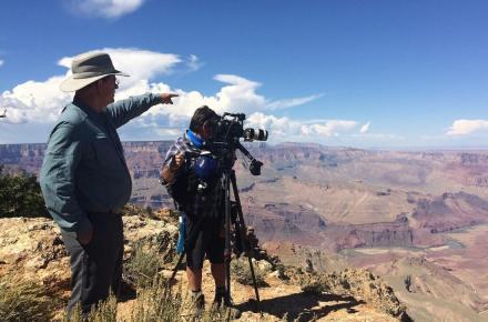 Steve Austin and camera operator Tom Z
