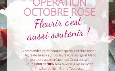 APPEL AUX DONS – L'ISGT & ONDA LOREAK artisan fleuriste – Octobre Rose