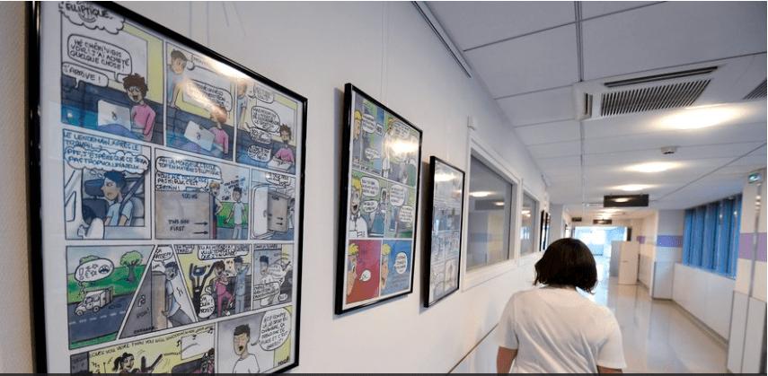 """Exposition au service d'oncologie de la clinique Pasteur à Toulouse : """"Ces dessins sur le cancer illustrent mon expérience avec la maladie"""""""