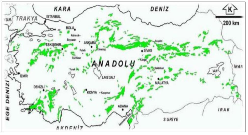Türkiye'de asbest yatakları