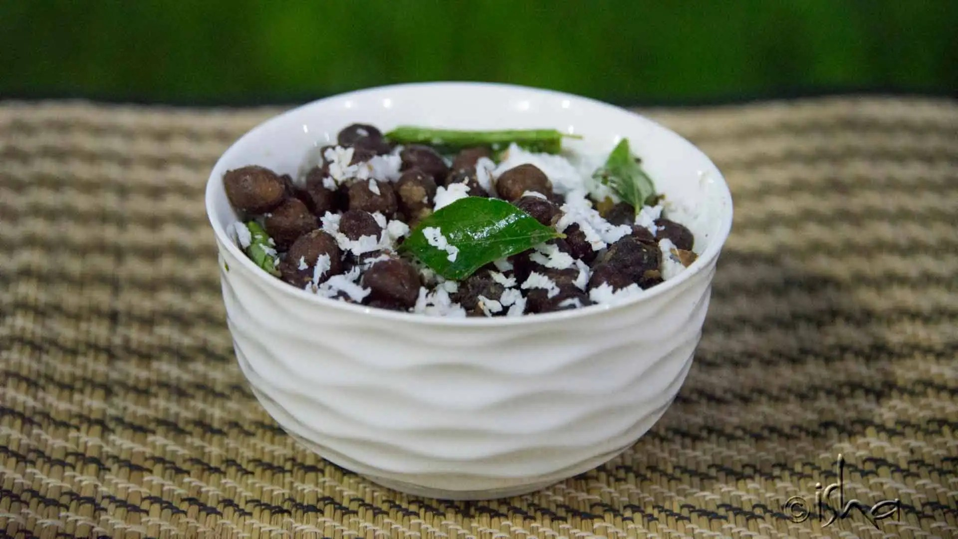 Black chana Sundal with Grated coconut
