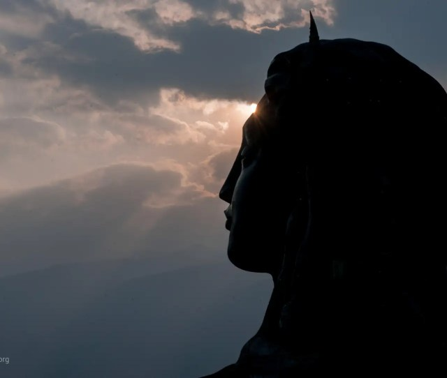 Wallpaper Of Shiva The Adiyogi With Setting Sun