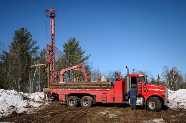 Drilling water well for Meeting Hall.