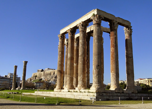 Acropolis as seen from Temple of Zeus