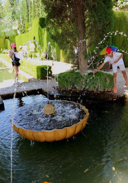 Alhambra Gardens water fountain