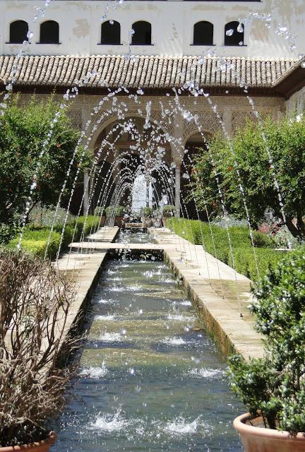 Alhambra Gardens fountain