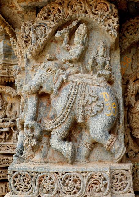 Lakshminarasimha Temple Javagal elephant