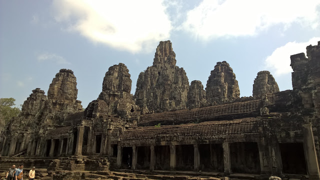 Smiling Faces in Bayon Temple