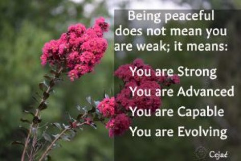 Being peaceful is not weakness