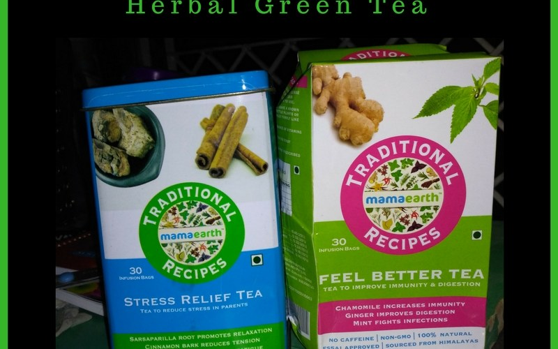 mamaearth herbal green tea review by Isheeria
