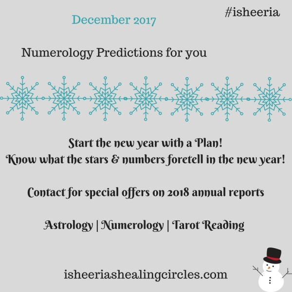 Numerology Prediction for December 2017 #isheeria #BlogchatterProjects