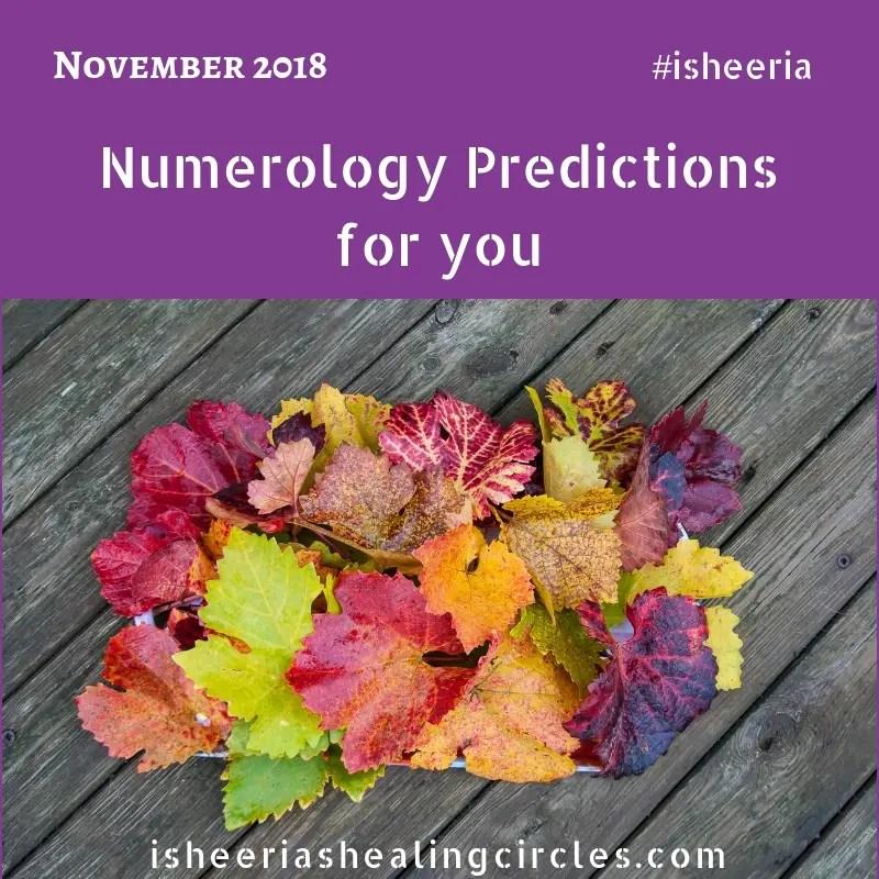 Numerology Predictions November 2018 by Isheeria