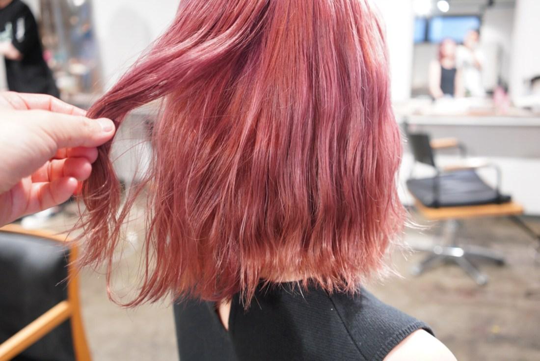 名古屋 コットンピンク カラー 髪色 ヘアカラー ハイトーンカラー ブリーチ ケアブリーチ 上手